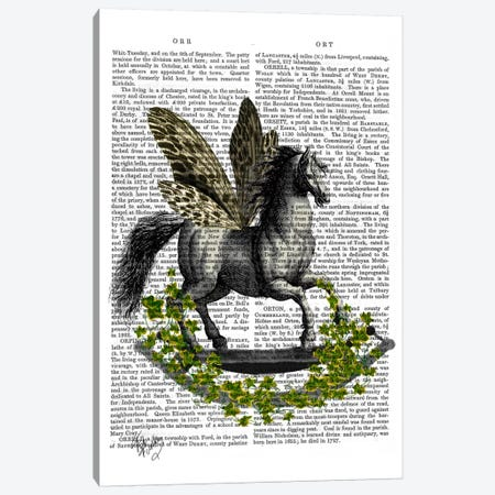 Rocking Horse Fly Canvas Print #FNK87} by Fab Funky Canvas Wall Art