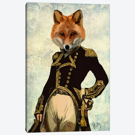 Admiral Fox Canvas Print #FNK882} by Fab Funky Canvas Artwork