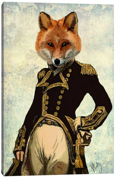 Admiral Fox Canvas Art Print