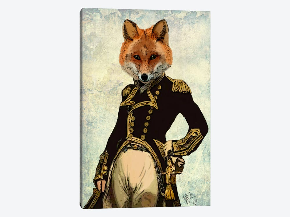 Admiral Fox by Fab Funky 1-piece Art Print