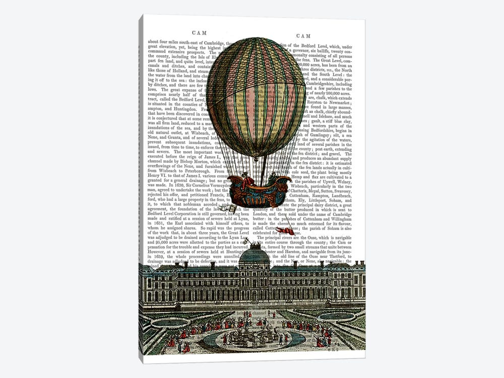 Airship Over City by Fab Funky 1-piece Canvas Art Print