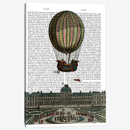 Airship Over City Canvas Print #FNK884} by Fab Funky Canvas Print