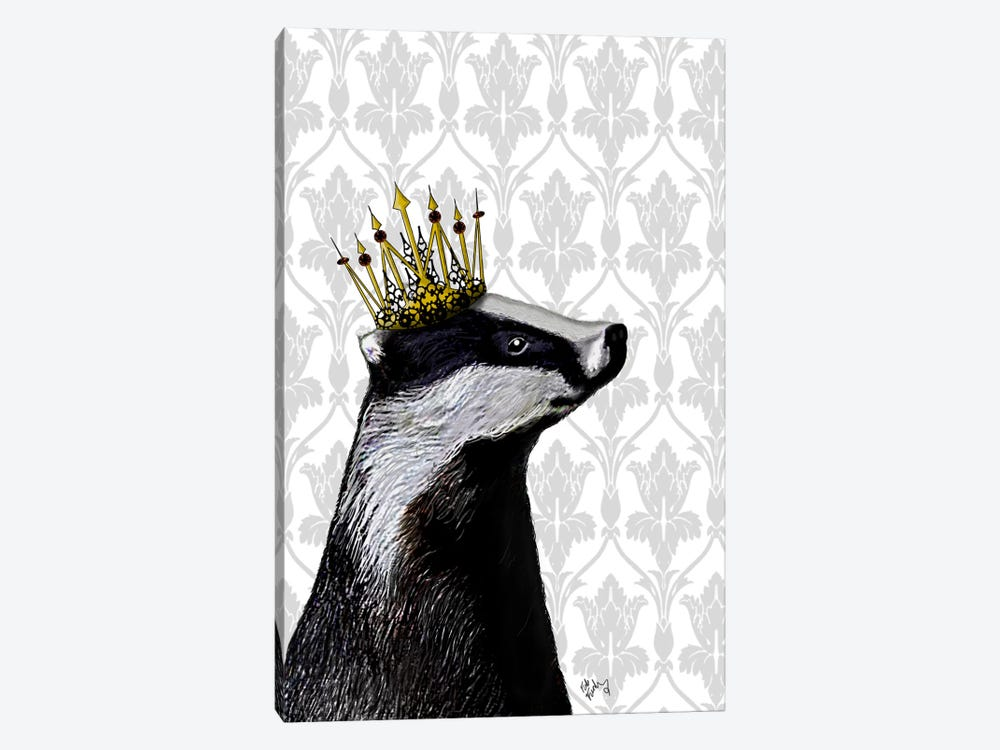 Badger King by Fab Funky 1-piece Canvas Art