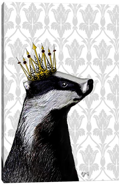 Badger King Canvas Art Print