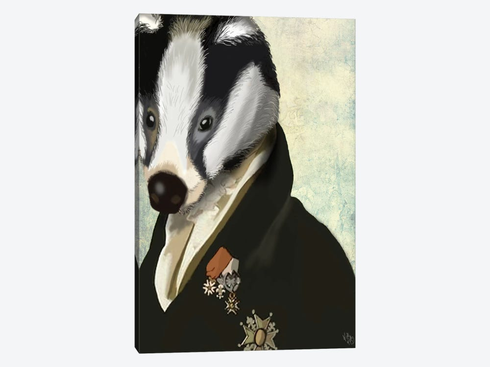 Badger The Hero by Fab Funky 1-piece Canvas Print