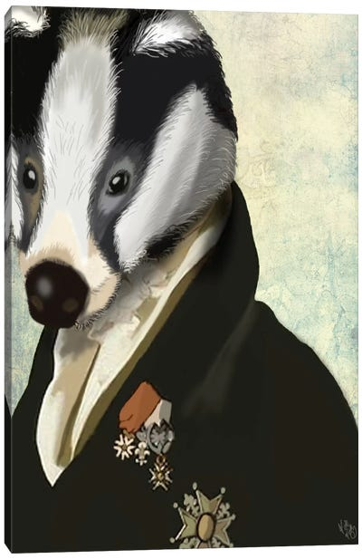 Badger The Hero Canvas Art Print