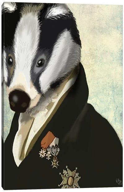 Badger The Hero Canvas Art Print