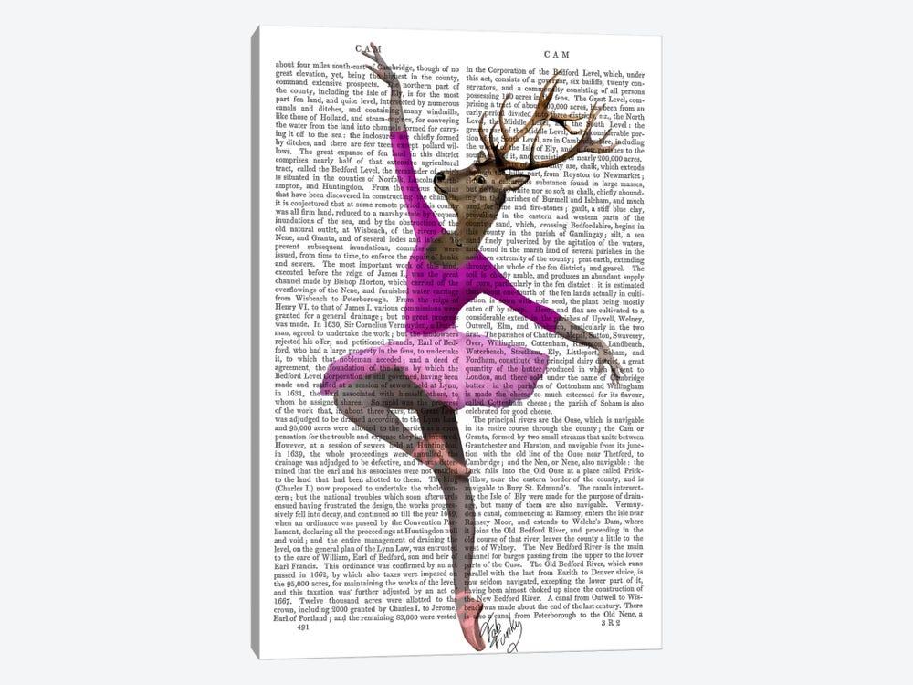 Ballet Deer In Pink by Fab Funky 1-piece Art Print