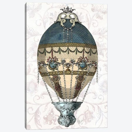 Baroque Balloon In Blue & Cream Canvas Print #FNK894} by Fab Funky Canvas Art