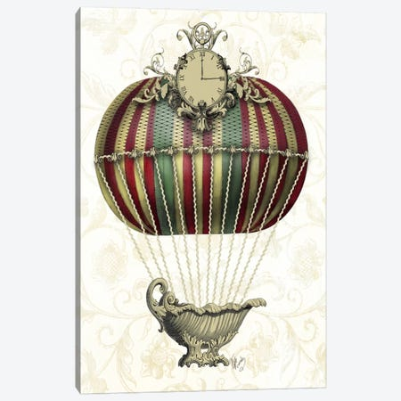 Baroque Balloon With Clock Canvas Print #FNK895} by Fab Funky Canvas Artwork