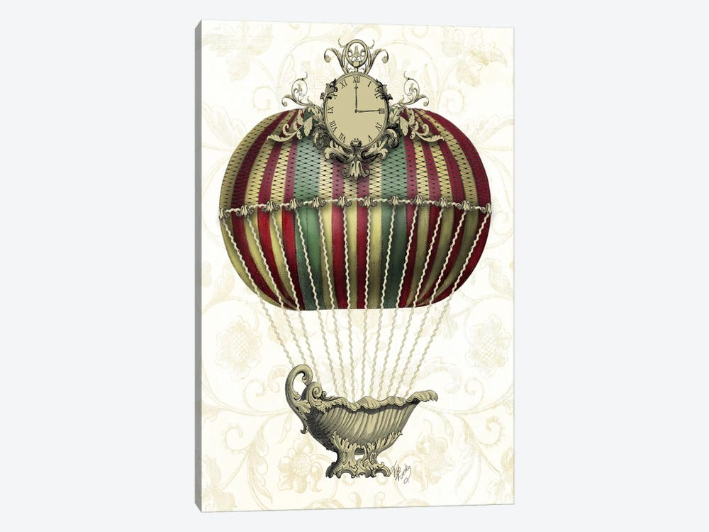 Baroque Balloon With Clock by Fab Funky 1-piece Art Print