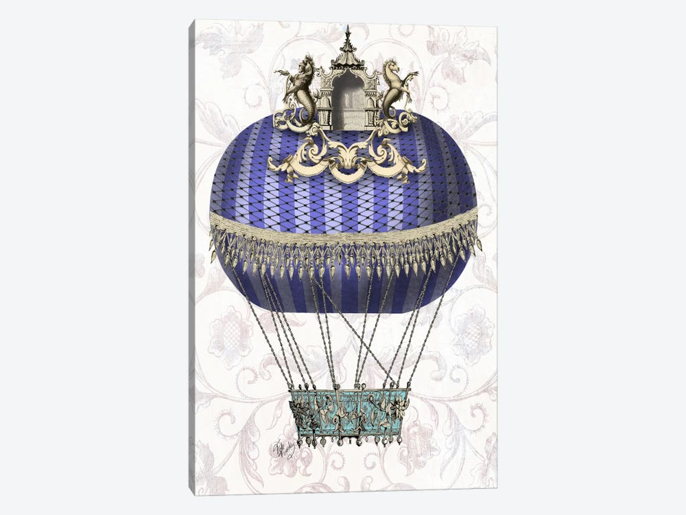 Baroque Balloon With Temple 1-piece Canvas Wall Art