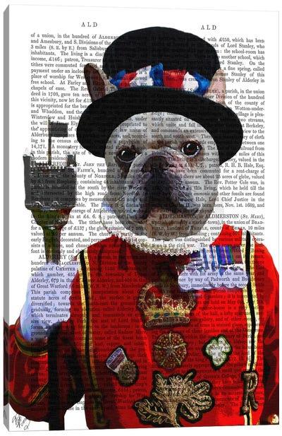 Bulldog Beefeater Canvas Print #FNK8