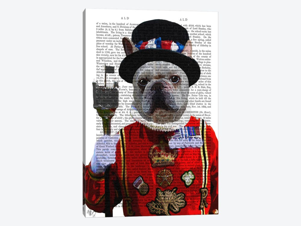 Bulldog Beefeater by Fab Funky 1-piece Canvas Print