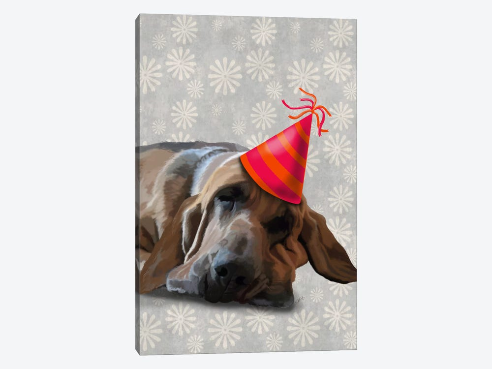 Bloodhound After The Party by Fab Funky 1-piece Canvas Art