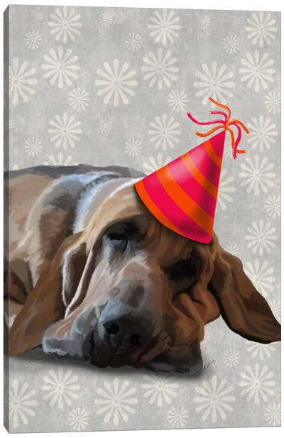 Bloodhound After The Party Canvas Art Print