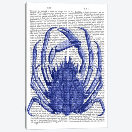 Blue Crab Canvas Print #FNK916} by Fab Funky Canvas Print