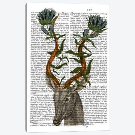 Blue Gazelle Canvas Print #FNK918} by Fab Funky Canvas Wall Art