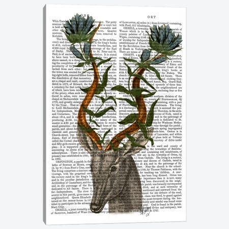 Blue Gazelle Canvas Print #FNK918} by Fab Funky Canvas Wall Art