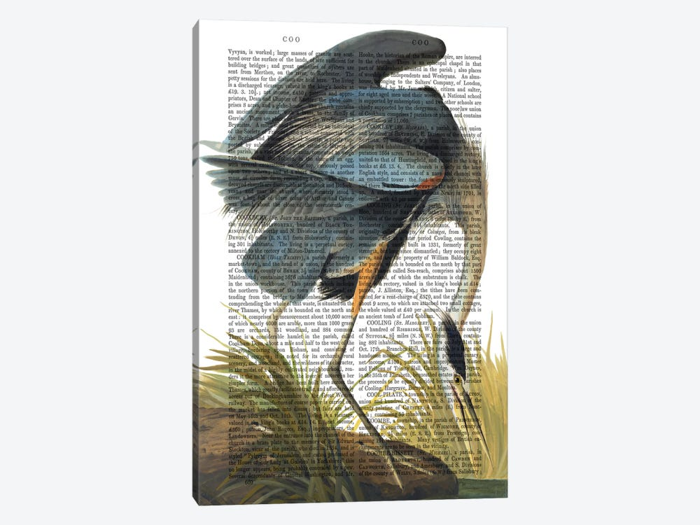 Blue Heron I by Fab Funky 1-piece Canvas Art