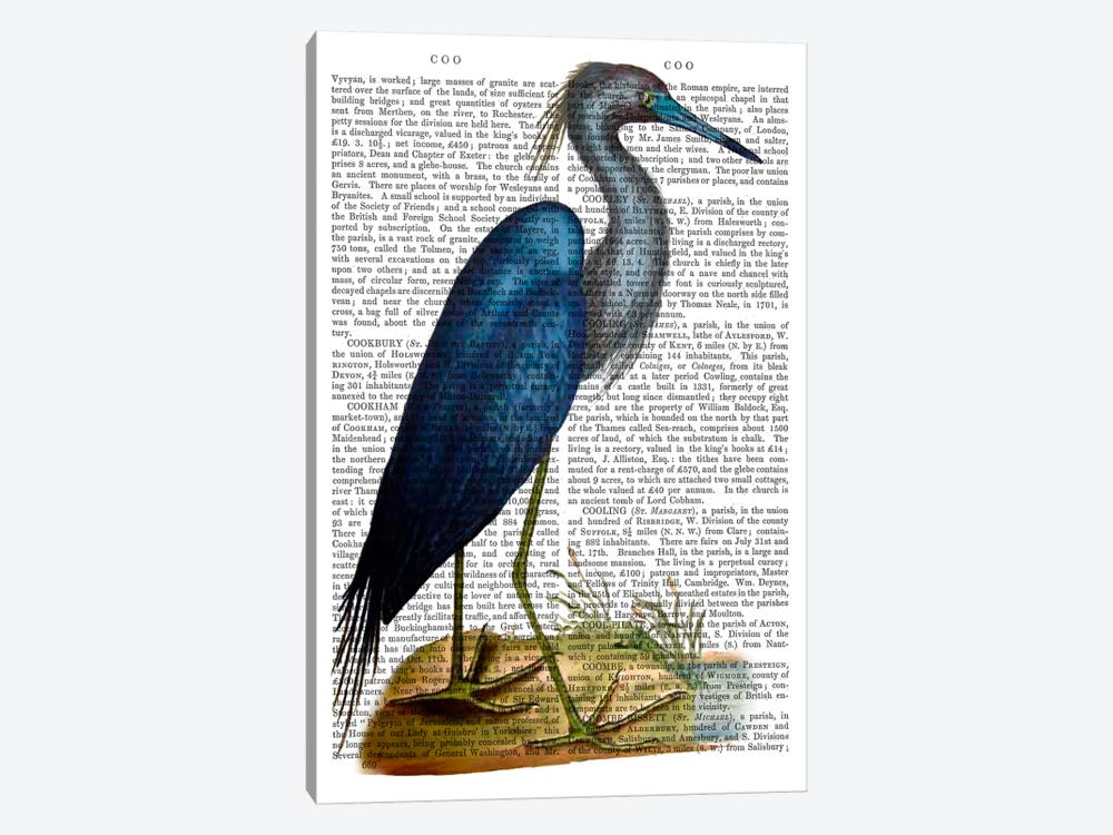 Blue Heron II by Fab Funky 1-piece Canvas Artwork