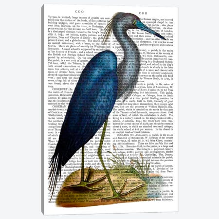 Blue Heron II 3-Piece Canvas #FNK920} by Fab Funky Canvas Art Print