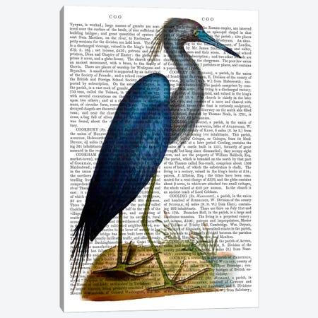 Blue Heron II Canvas Print #FNK920} by Fab Funky Canvas Art Print