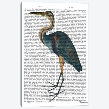 Blue Heron III Canvas Print #FNK921} by Fab Funky Canvas Art Print