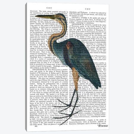 Blue Heron III Canvas Print #FNK921} by Fab Funky Canvas Art Print