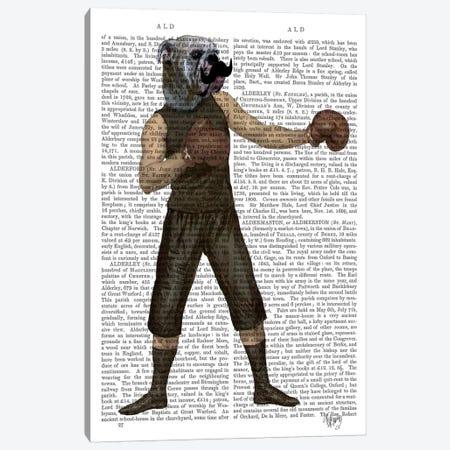 Boxing Bulldog Canvas Print #FNK941} by Fab Funky Art Print