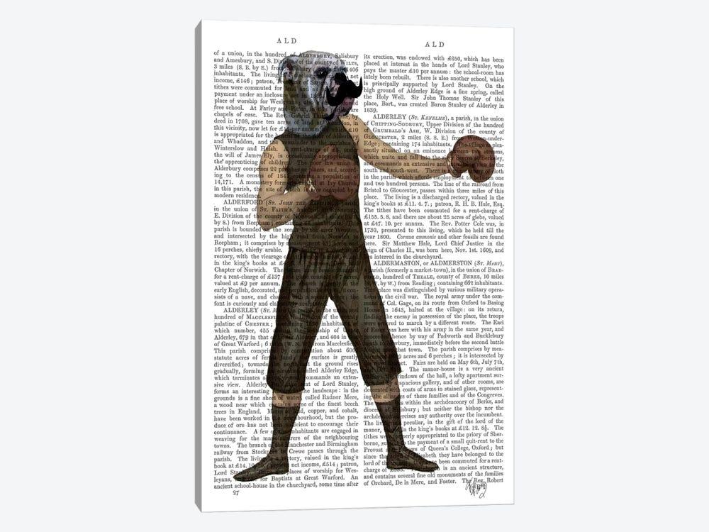 Boxing Bulldog by Fab Funky 1-piece Art Print