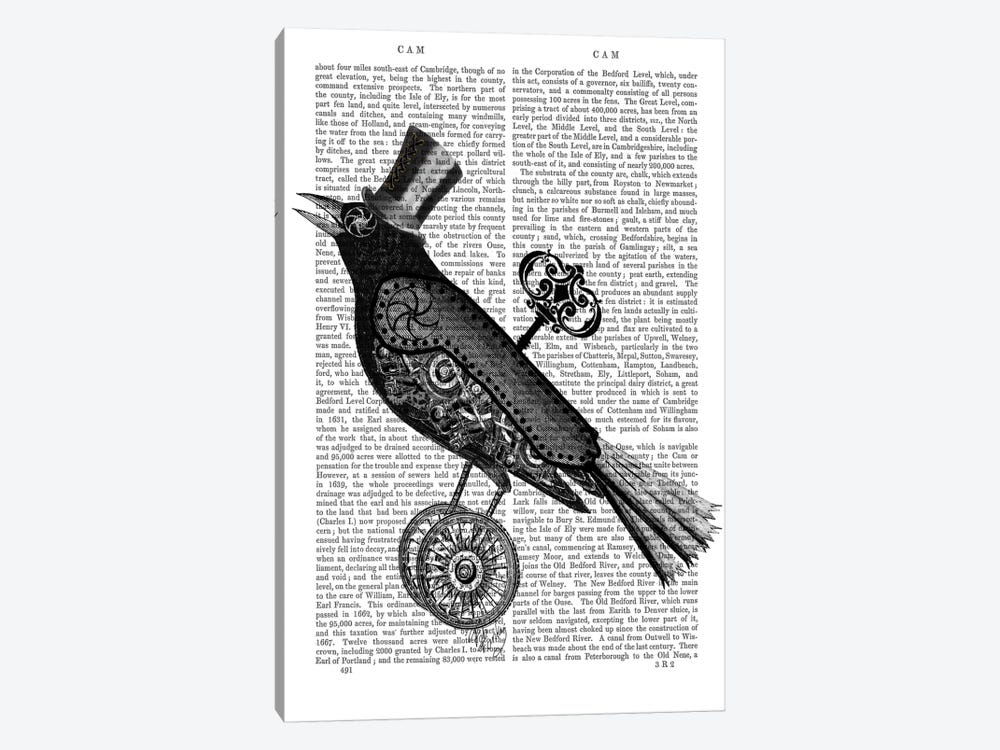 Steampunk Crow by Fab Funky 1-piece Art Print