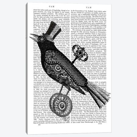 Steampunk Crow Canvas Print #FNK94} by Fab Funky Art Print