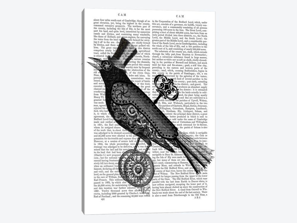 Steampunk Crow by Fab Funky 1-piece Art Print