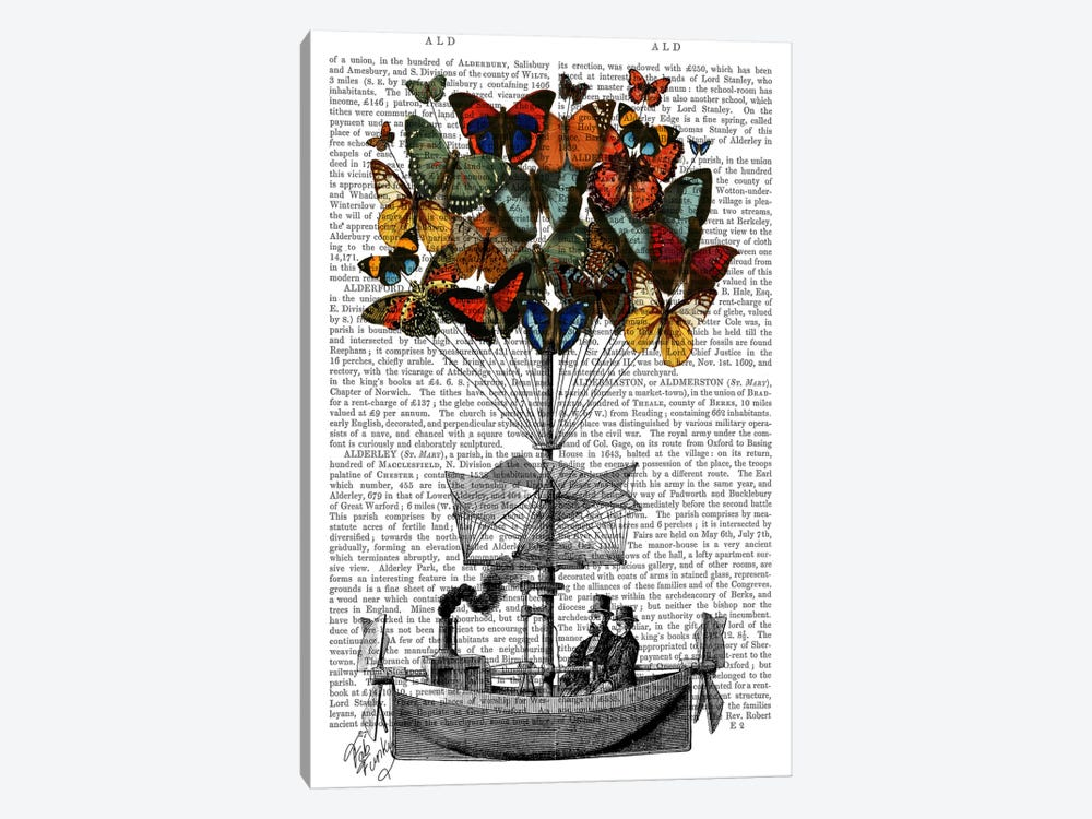 Butterfly Airship I 1-piece Art Print