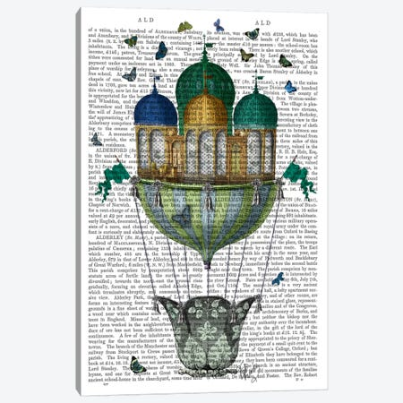 Butterfly House, Print BG Canvas Print #FNK955} by Fab Funky Canvas Print