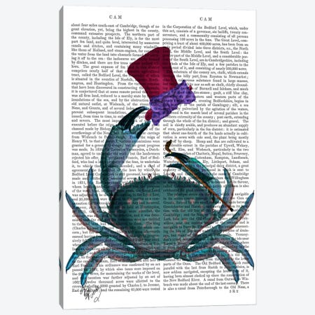 The Dandy Crab Canvas Print #FNK95} by Fab Funky Art Print