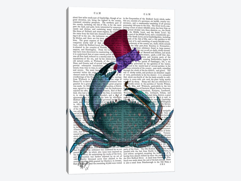 The Dandy Crab by Fab Funky 1-piece Canvas Wall Art