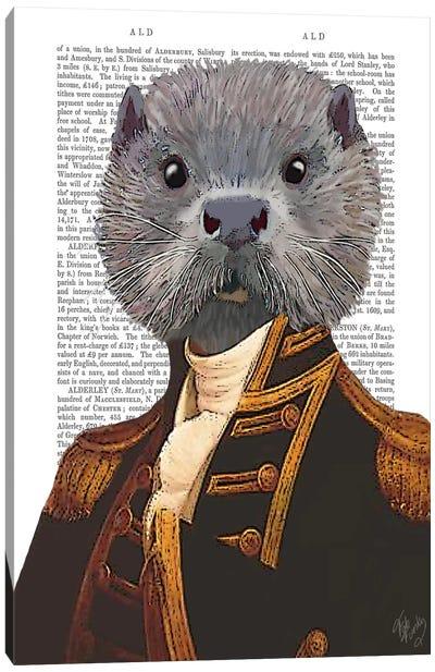 Captain Otter Canvas Art Print