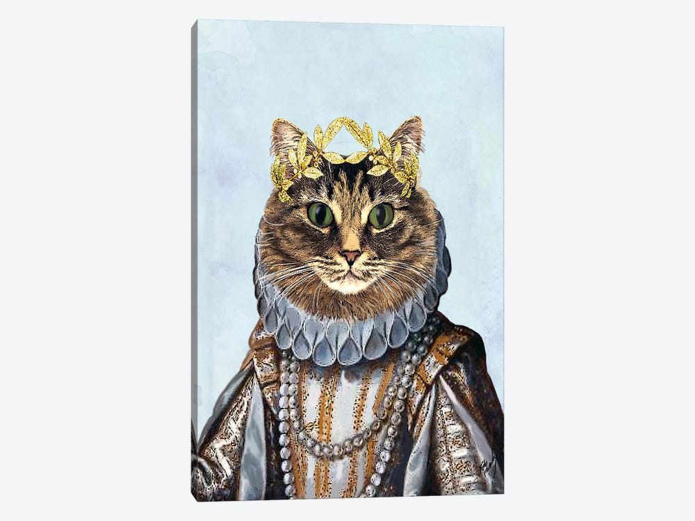 Cat Queen by Fab Funky 1-piece Canvas Art Print