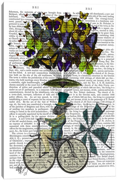 Time Flies Rabbit Canvas Art Print
