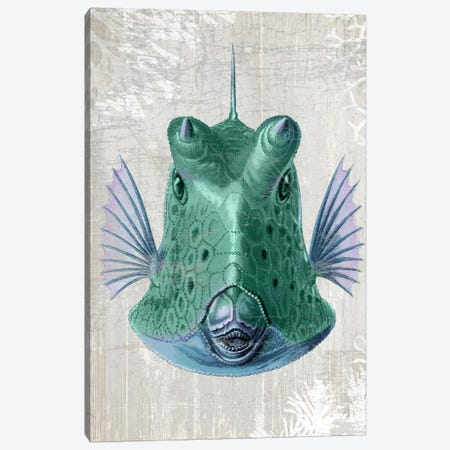 Cowfish Canvas Print #FNK974} by Fab Funky Canvas Print