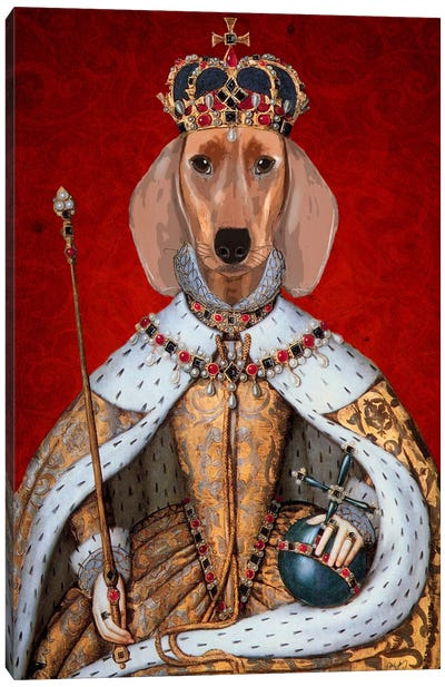 Dachshund Queen II Canvas Art Print