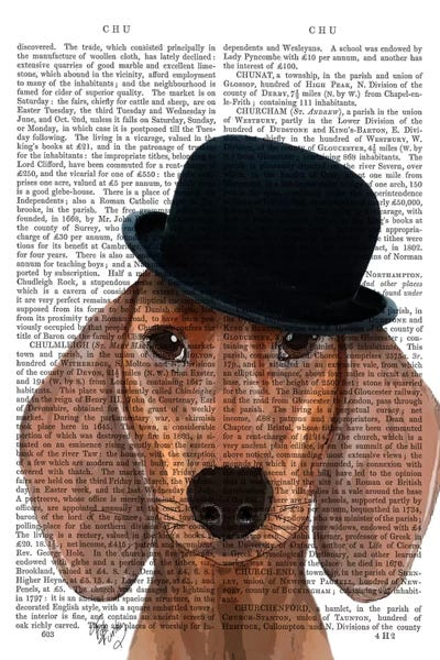 Dachshund With Black Bowler Hat Canvas Artwork by Fab Funky  d4a7ee450d2b