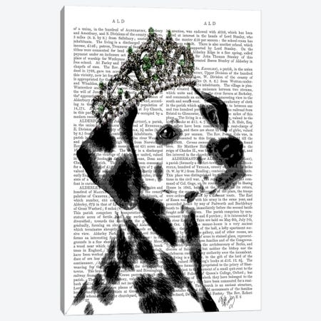 Dalmatian With Tiara Canvas Print #FNK988} by Fab Funky Canvas Print