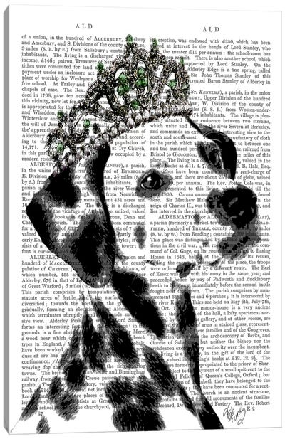 Dalmatian With Tiara Canvas Art Print
