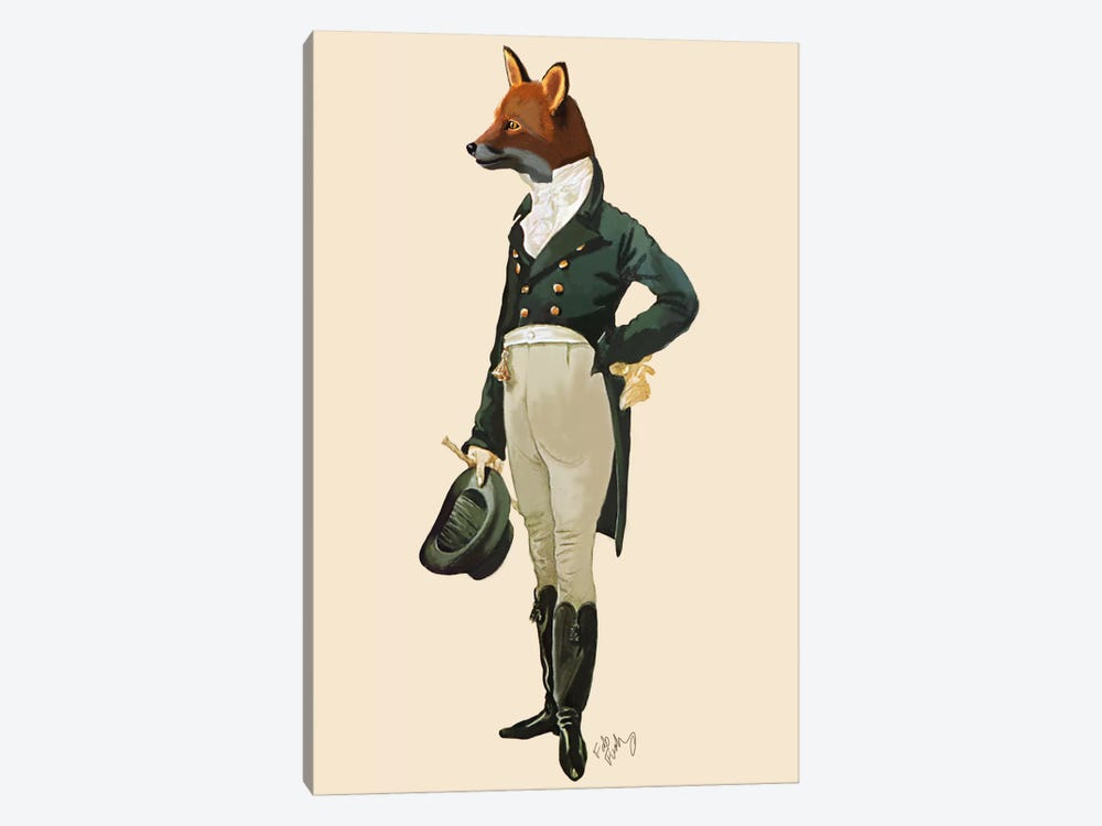 Dandy Fox 1-piece Canvas Artwork