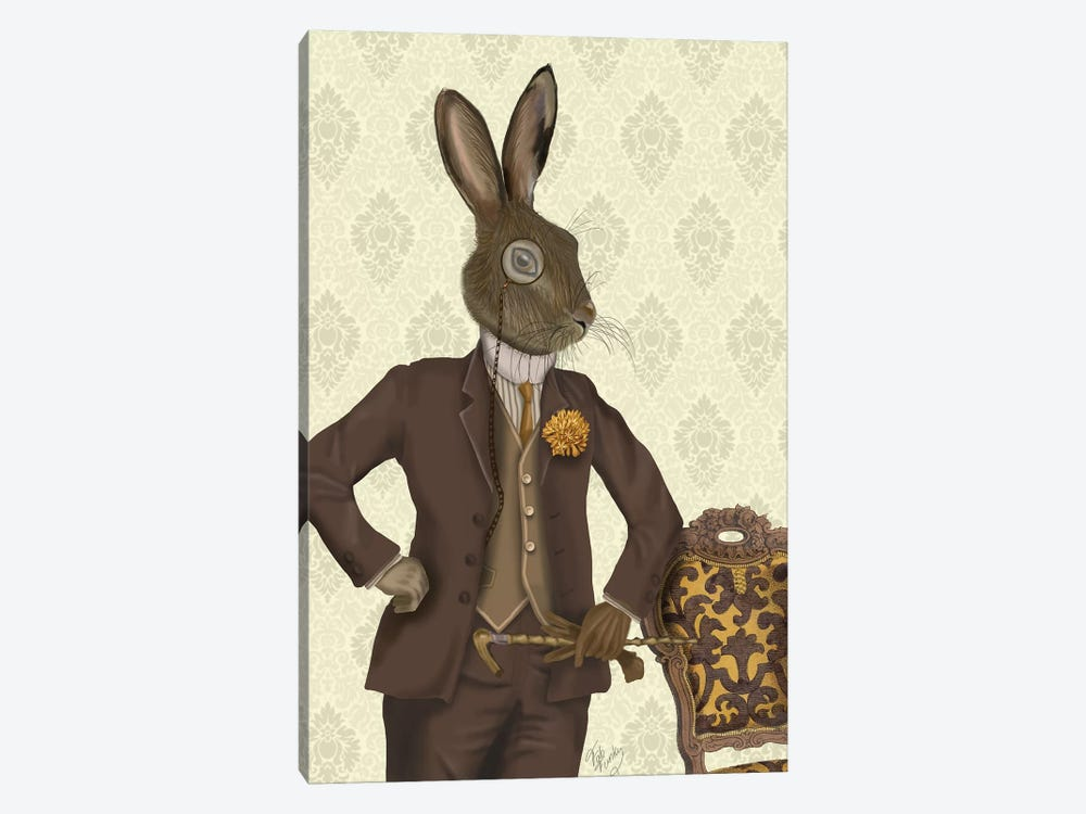 Dapper Hare by Fab Funky 1-piece Canvas Art Print