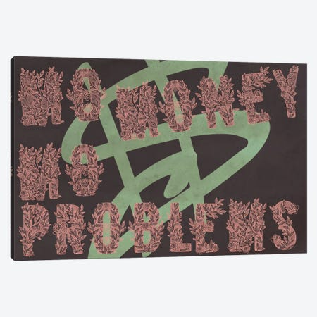 Mo Flowers, Mo Problems Canvas Print #FOB8} by 5by5collective Canvas Art