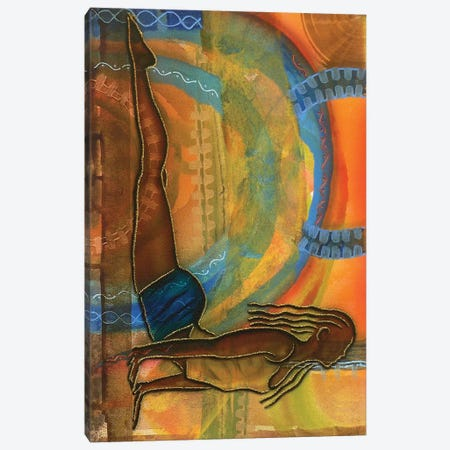 Yoga III 3-Piece Canvas #FOD102} by Fred Odle Art Print